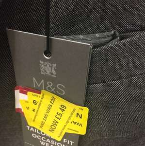 Getting married and need a morning suit? Suit jacket - £5.49 instore @ Marks and Spencer