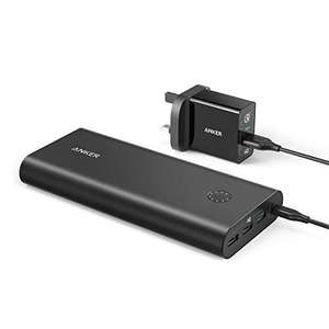 Anker PowerCore+ 26800 Premium Portable Charger High Capacity External Battery with Qualcomm Quick Charge 3.0 and PowerPort+ 1 with Quick Charge 3.0 Wall Charger £45.99 @ Sold by AnkerDirect and Fulfilled by Amazon.