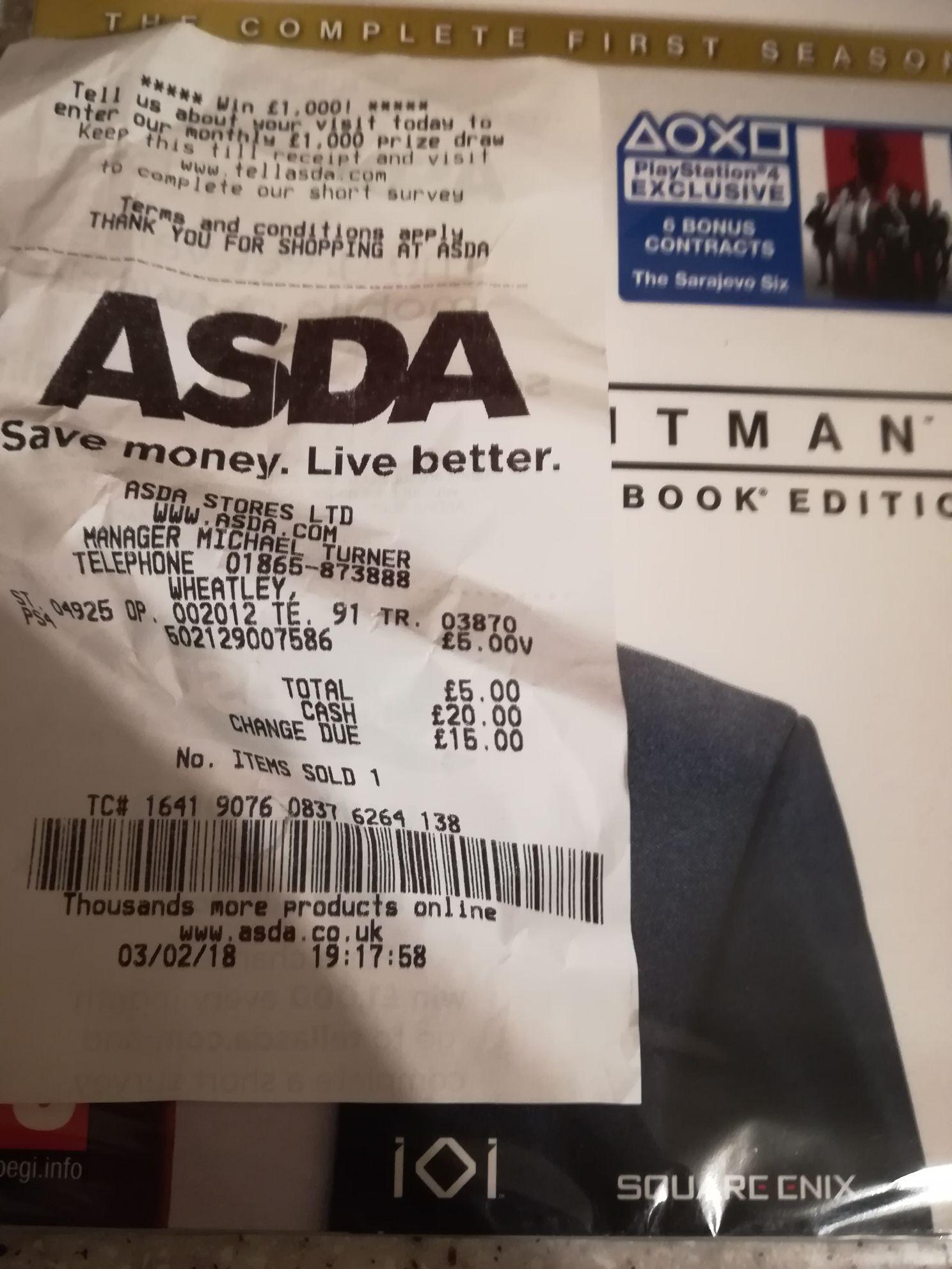 Hit Man Steel Book Edition Complete First Season - £5 instore @ Asda