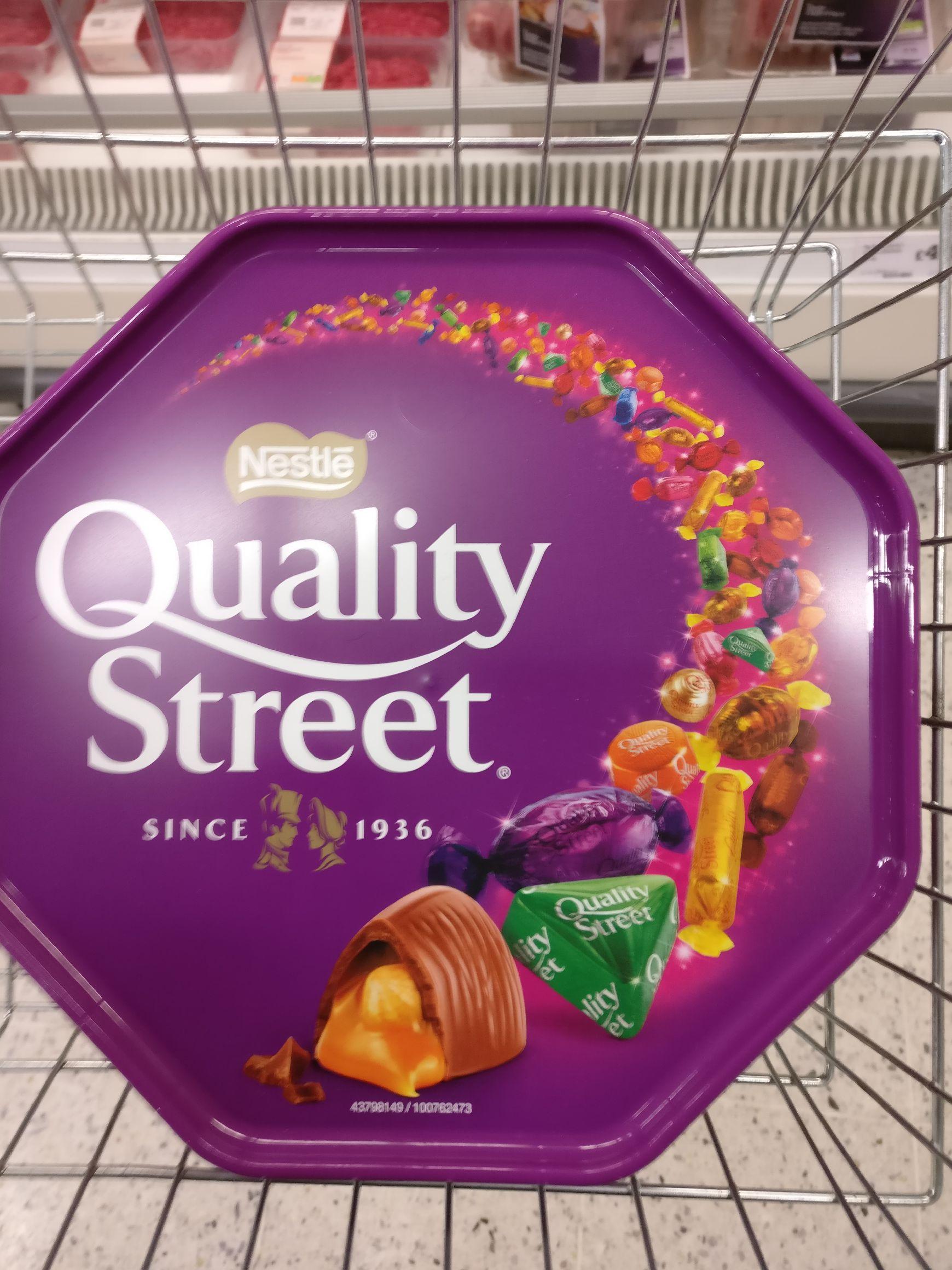 Quality Street 750g £3, 1.8kg £6 Sainsbury's Heaton