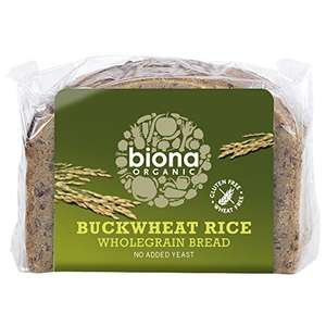 Biona Organic Buckwheat Rice Wholegrain Bread 250 g (Pack of 6) Amazon £7.08 Prime / £11.07 non Prime @ Amazon