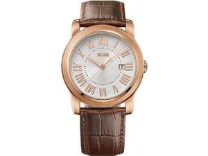 Hugo Boss Men's Quartz Watch with Silver Dial and Brown Leather Strap 1512716 - £82.78 Amazon