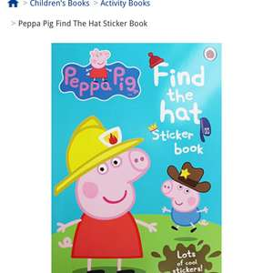 Pepa pig sticker book £1.50 delivered with code WINTERDF @ The Works