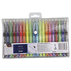 Tesco Coloured Gel & Balpoint Pen Set 20 pack Half Price £1.50 @ Tesco