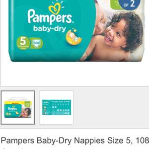 Pampers baby dry giga-pack 108 £10.49 (Costco)
