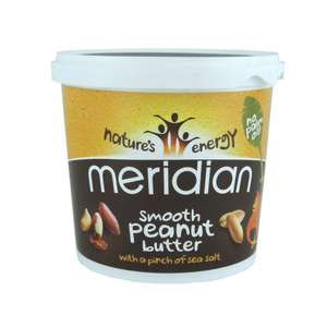2kg Meridian Smooth peanut butter with 1% sea salt £7.39 with Amazon Prime otherwise £12.14