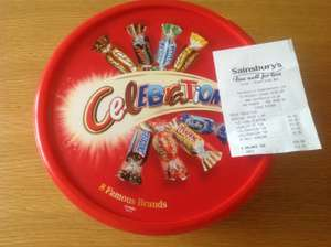 Celebrations tub 680g - £3 instore @ Sainsbury's Leigh.