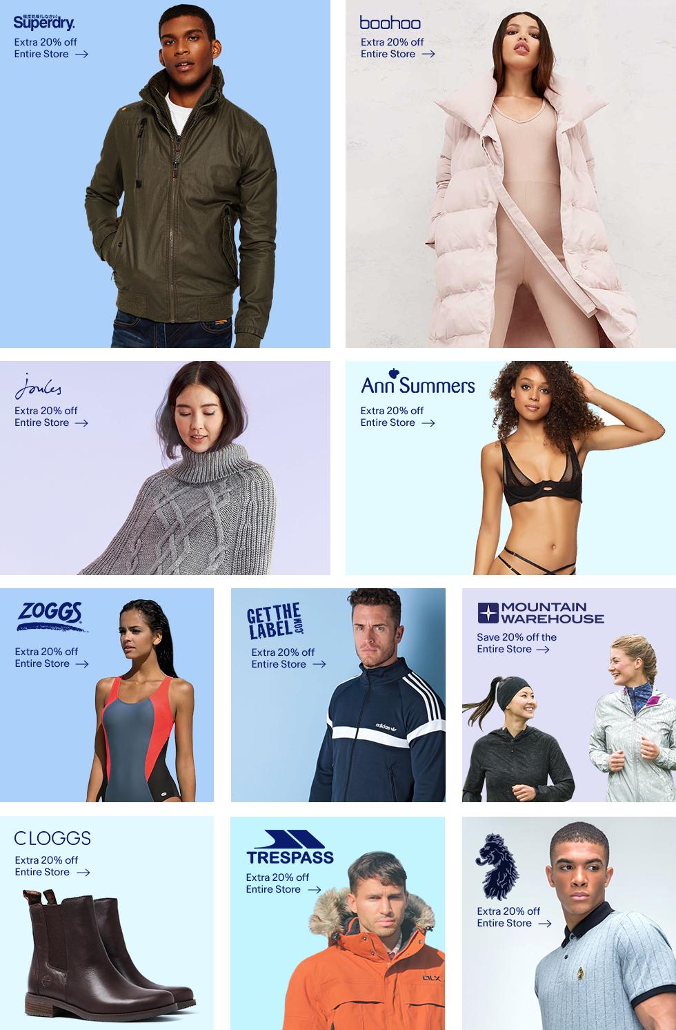 20% off at branded outlets @ Ebay