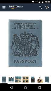 UK Light Blue Passport Holder - £3.49 Delivered - Sold and Despatched by Panorama Stores via Amazon