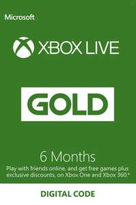 Xbox Live 6 Months Gold Membership Code + POSSIBLE 1 MONTH FREE EXTRA - £16.14 @ CDKeys