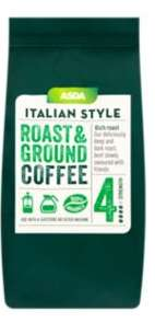 ASDA Italian Style Roast & Ground Coffee rolled back to £1.49 for 227g