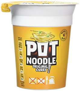 Pot Noodle Original Curry 90 g (Pack of 12) for £6 @ Amazon - Prime Exclusive