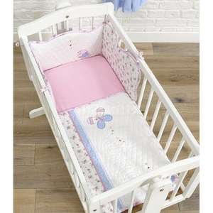 Vintage love and kisses crib set ( coverlet+fitted sheet+ cot bumper ) £4.96 @ toysrus