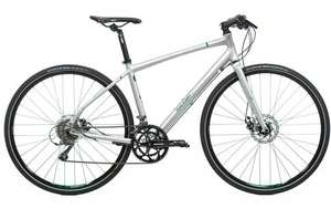 Raleigh Strada 5 hybrid bike with disc brakes £330 40% reduction Evan Cycles