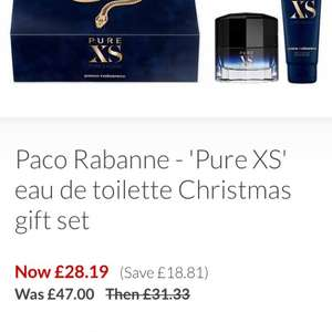 Paco Rabanne - 'Pure XS' EDT 50ML gift set - £28.19 delivered  Debenhams