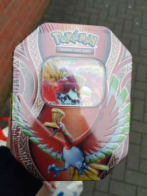 Tesco - Pokemon Cards - Tins are £12.60 /  single packs with a coin £3.60 /  tesco exclusive pack  instore
