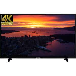 "Techwood 55AO6USB 55"" Freeview HD and Freeview Play Smart 4K Ultra HD TV - Black - A+ Rated £399 at ao.com  + £75 cashback"
