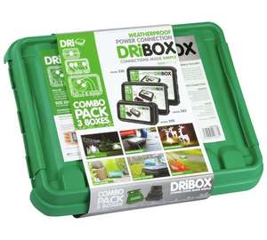 Weatherproof power connection dribox triple combo pack Was £49.99 now £26.99 @ argos