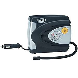 Ring RAC610 Analogue Tyre Inflator, 12V Air Compressor £10.95 prime / £15.70 non prime @ AmazonUK