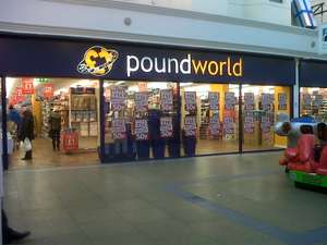 50% off everything POUNDWORLD Cheltenham store