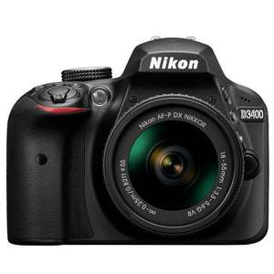 Nikon D3400 £100 off with lens £349 with code @ Argos
