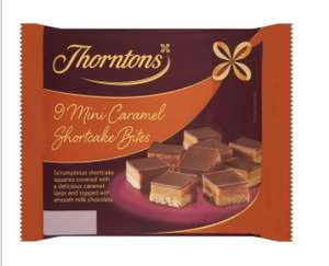 Thorntons Mini Caramel Shortcakes and Brownies 9Pk 70p Tesco