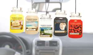 12 Yankee Candle Car air fresheners. Groupon. Fragrances are listed on the link. £10 Plus £1.99 delivery
