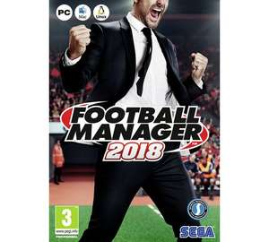 Football Manager 2018 PC £19.99 @ Argos