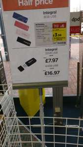 Integral 8gb USB Sticks £3.98 Currys