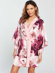 B by Ted Baker Pink Satin 'Porcelain Rose' Dressing Gown + Free Gift Box was £42 now £35.70 Del w/code @ Debenhams