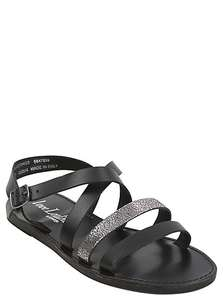 LEATHER metallic detail sandals sizes 3, 4, 5, 6  Was £14 now £6 @ asda george