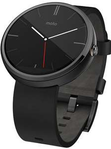 1st Gen Motorola Moto 360 Black With Black Leather Band, B Grade + 2 Years Warranty £66.50 delivered (£65 in store)  @ CeX