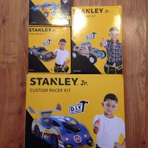 Stanley Jr DIY kits such as customer racer reduced to £3 from £14. Click and collect at Halfords.