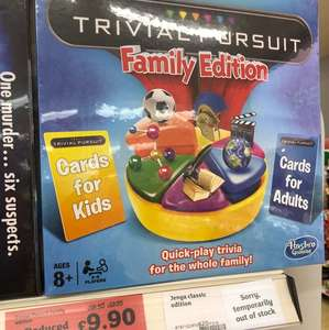 Trivial pursuit, family edition £9.90 Sainsburys instore