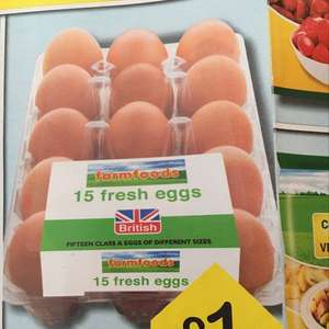 Farmfoods 15 eggs for £1