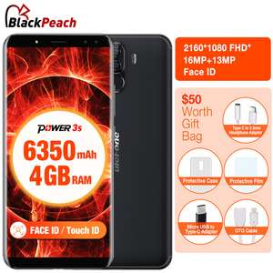 Ulefone Power 3S Android 8.1 Smartphone MTK6763 Octa Core 6.0 inch 4GB RAM 64GB ROM 6350mAh 4G 4 Cameras Face ID Band 20 £129.44 @ Aliexpress