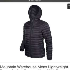 Mens Lightweight Down Jacket Composition 90% Down 10% Feather £63.99 Mountain Warehouse / Ebay