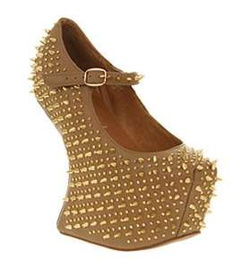 Jeffrey CampbellPrickly WedgeTaupe Leather Gold Spike £15 @ Office - Free c&c