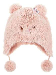Monsoon girls cosy bear hat age 0-12 months & 1-2 years LOW STOCK £3 was £12 @ houseoffrasier