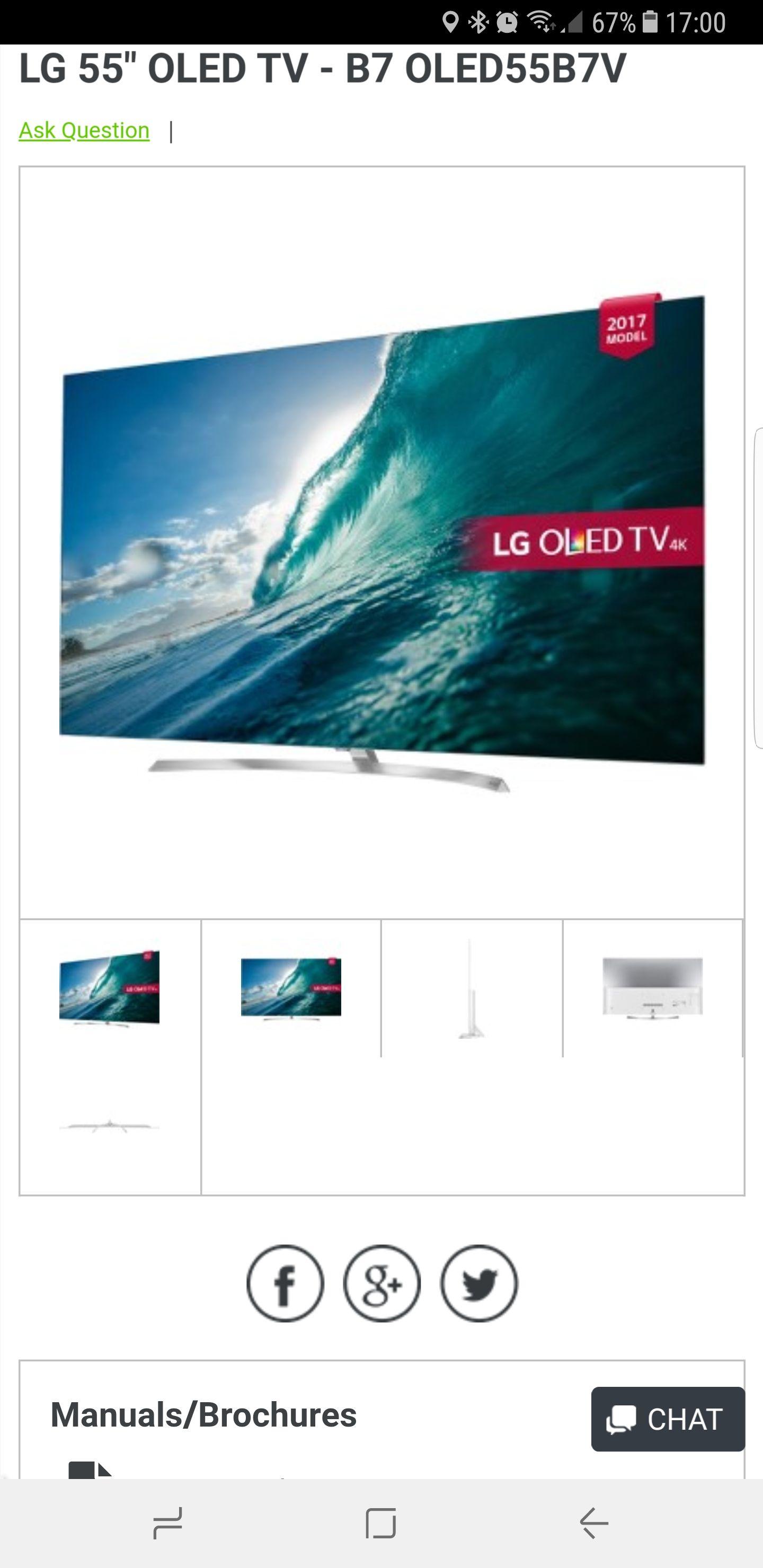 LG OLED 55 B7V Superfi £1499 5 Year Warranty £1499 @ Superfi