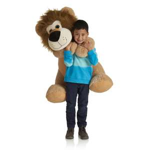 Larry the Massive Lion Plush 80cm reduce to clear £7.50 in wilko reading