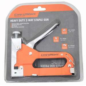 Homebase Heavy Duty 3-Way Staple Gun in carry box with 2 boxes of staples for £2.50 in store