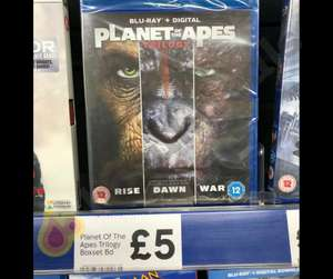 Planet of the Apes trilogy Bluray £5 Tesco instore