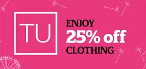 ** Now live ** Sainsburys TU clothing 25% off event