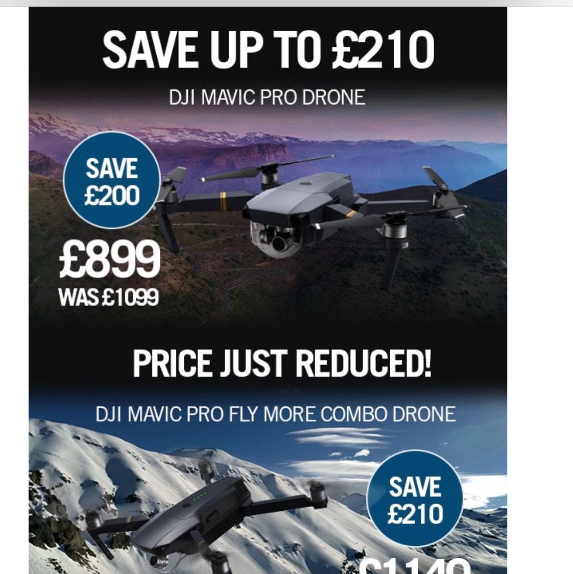 DJI Mavic Pro £200 off £899 @ Jessops