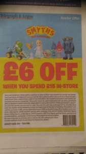 £6 off Smyth Toys when you spend £15 using T & A voucher