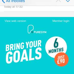 Puregym - 6 months for £90 (£15/month) and no joining fee - with code JOINFREE