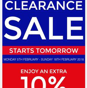 Boundary mill clearance event - up to 70% off RRP in store event