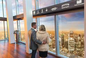 View From The Shard & 3-Course Marco Pierre White Dining for 2 £89 @ Wowcher / buyagift