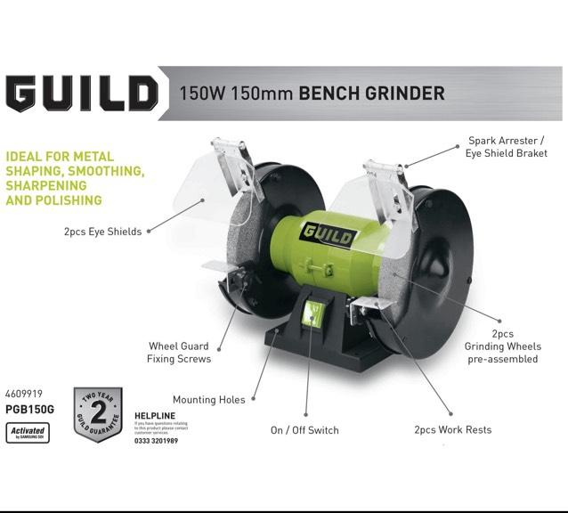 Guild Bench Grinder £16.66 @ Argos C&C